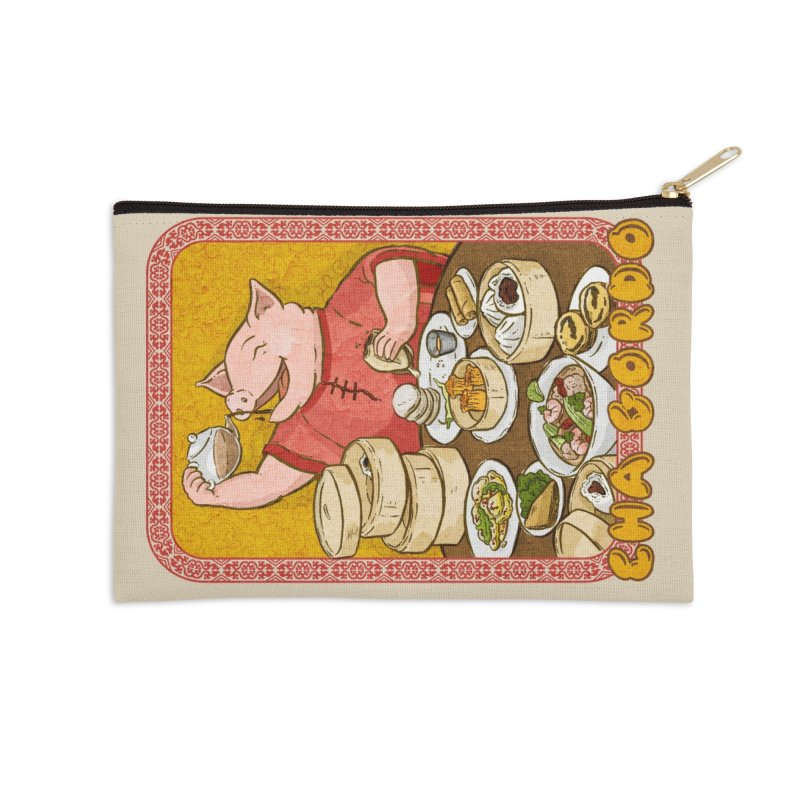 Fat Rice: Cha Gordo Accessories Zip Pouch by Sarah Becan