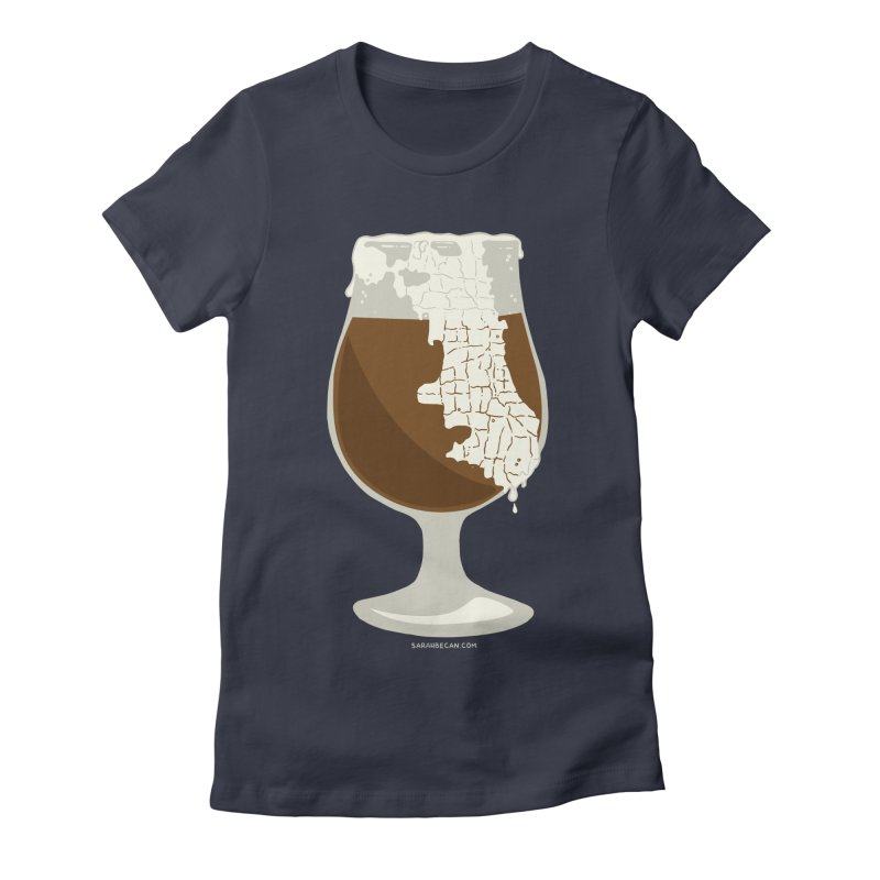 Chicago Beer Women's Fitted T-Shirt by Sarah Becan