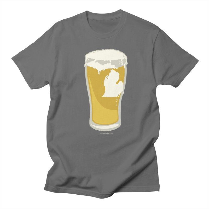 Michigan Beer Men's Regular T-Shirt by Sarah Becan