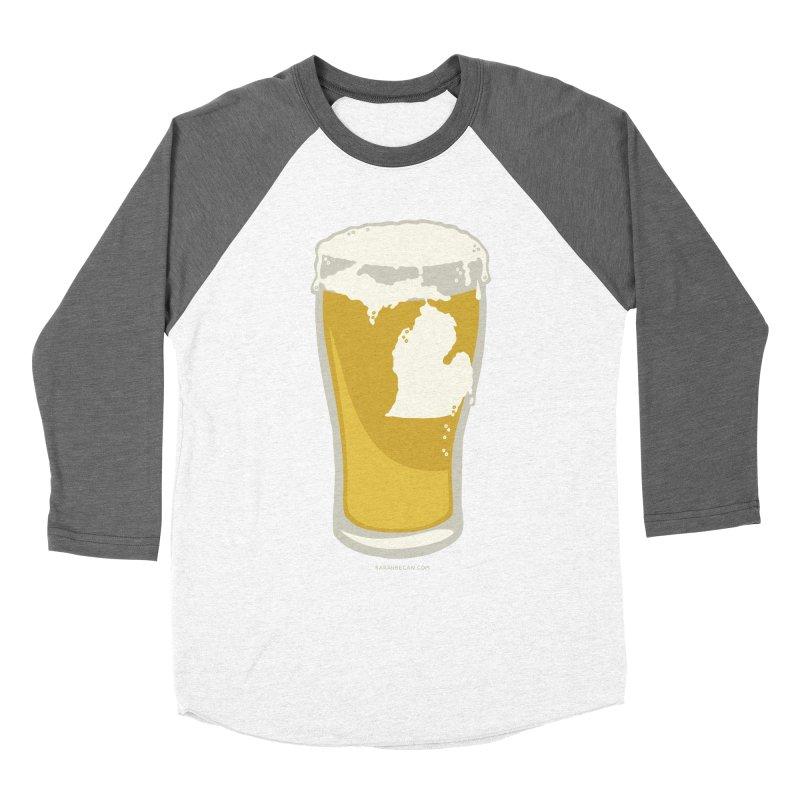 Michigan Beer Men's Baseball Triblend T-Shirt by Sarah Becan