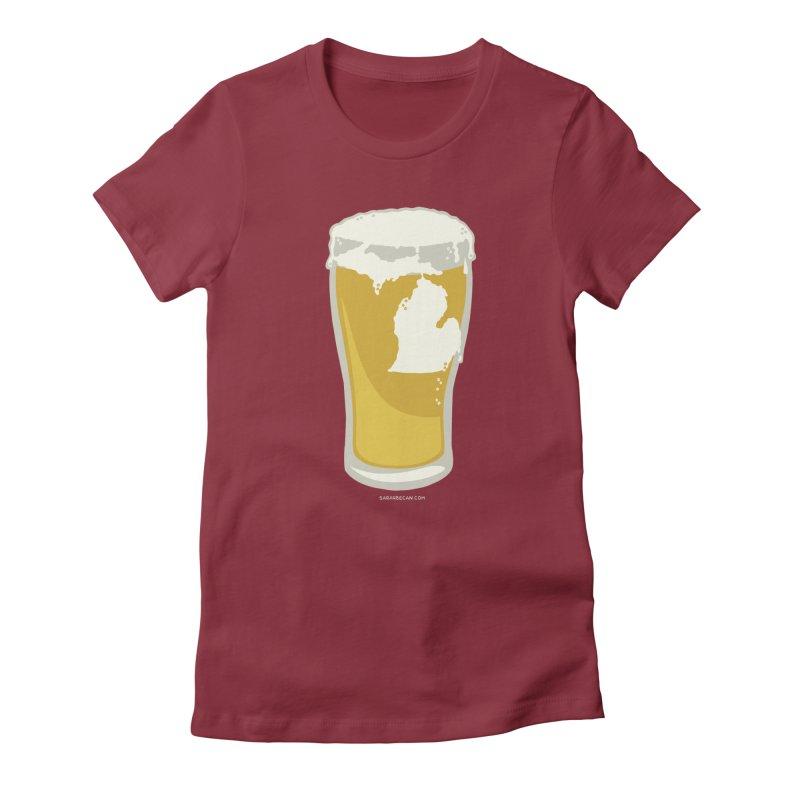 Michigan Beer Women's T-Shirt by Sarah Becan