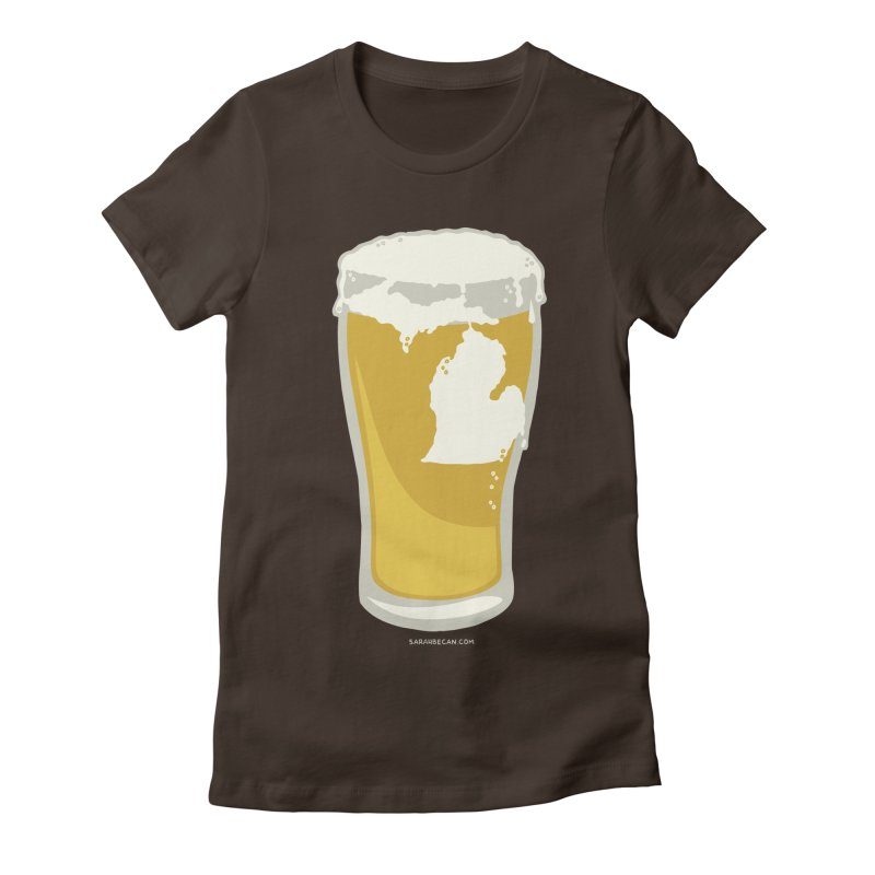 Michigan Beer Women's Fitted T-Shirt by Sarah Becan