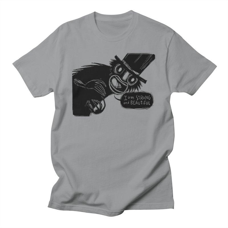 I am Strong and Beautiful Men's Regular T-Shirt by Sarah Becan