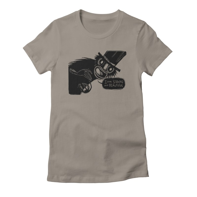 I am Strong and Beautiful Women's Fitted T-Shirt by Sarah Becan