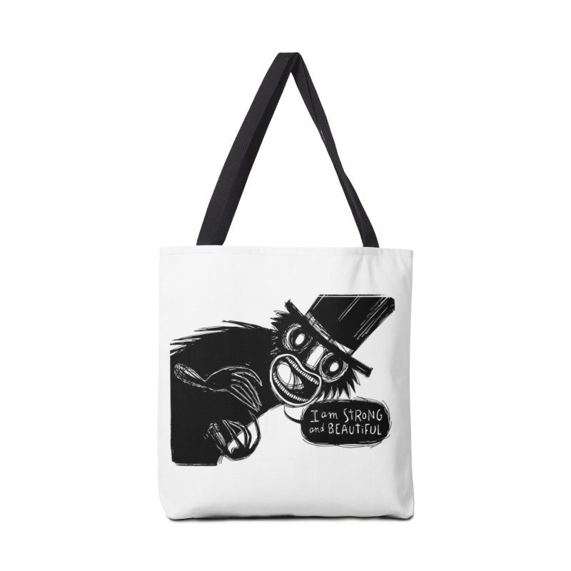 I am Strong and Beautiful Accessories Bag by Sarah Becan