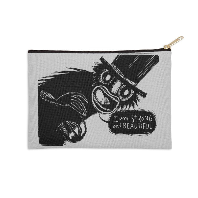 I am Strong and Beautiful Accessories Zip Pouch by Sarah Becan