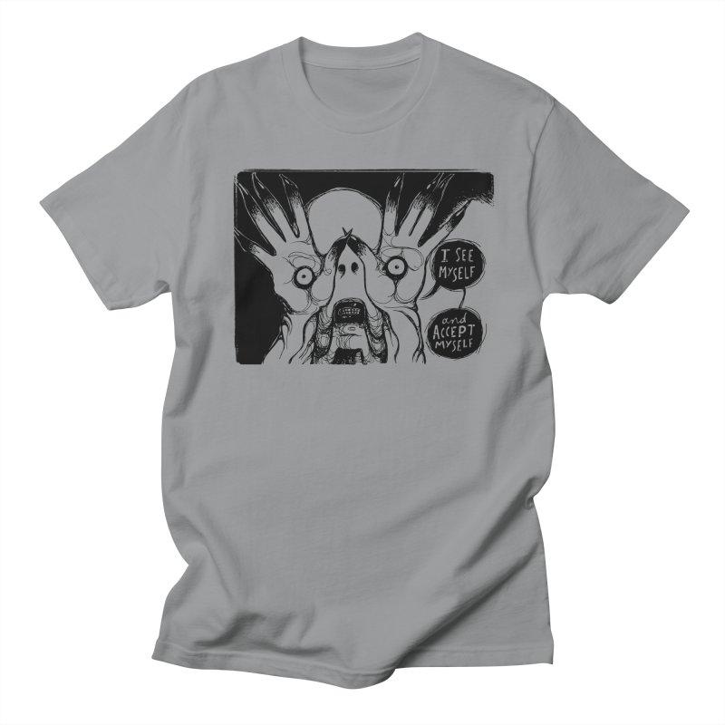 I See Myself and Accept Myself Men's Regular T-Shirt by Sarah Becan