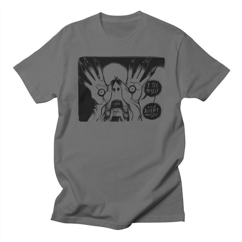 I See Myself and Accept Myself Men's T-Shirt by Sarah Becan