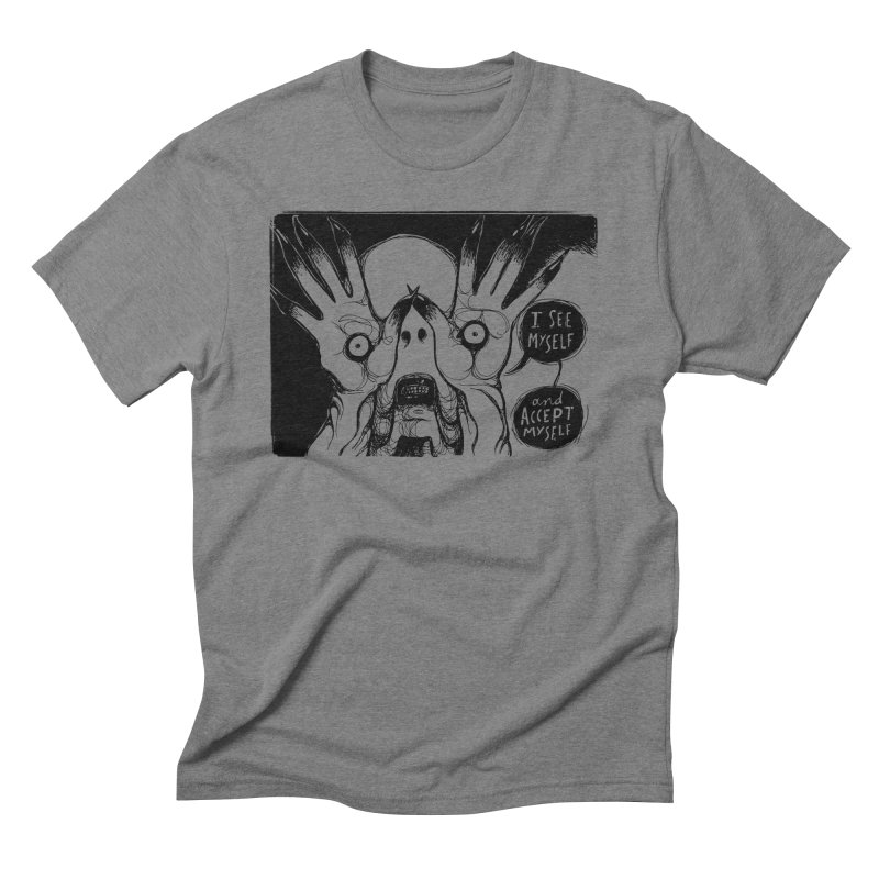 I See Myself and Accept Myself Men's Triblend T-Shirt by Sarah Becan