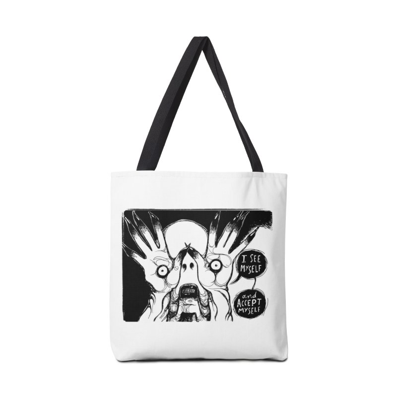 I See Myself and Accept Myself Accessories Bag by Sarah Becan