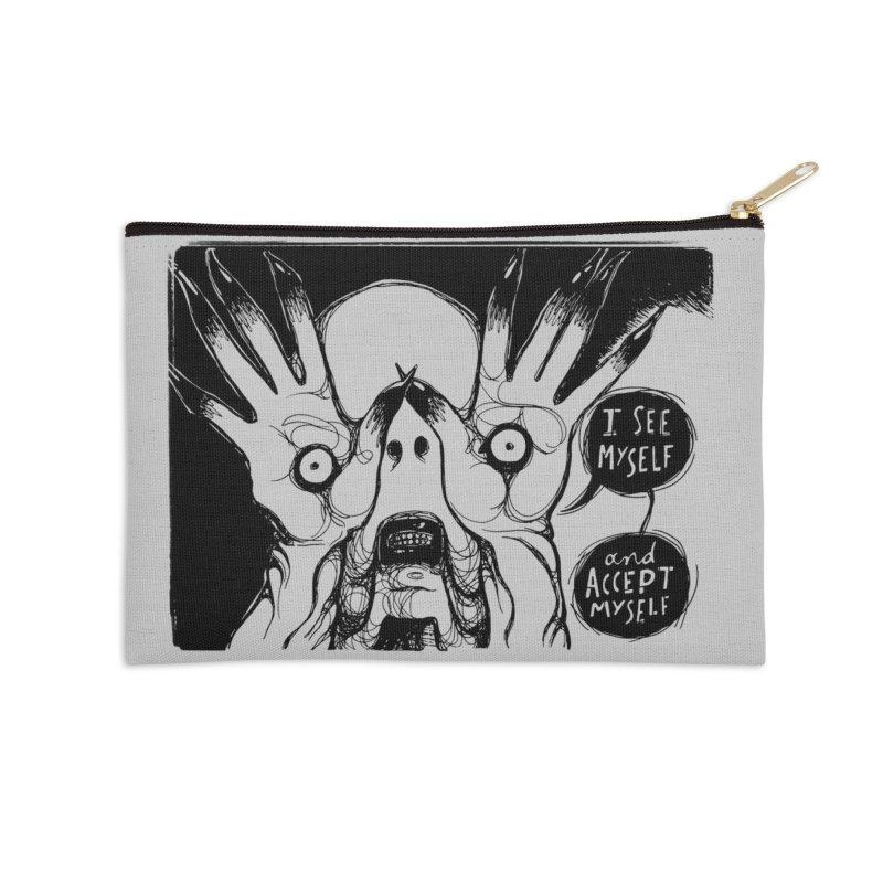 I See Myself and Accept Myself Accessories Zip Pouch by Sarah Becan