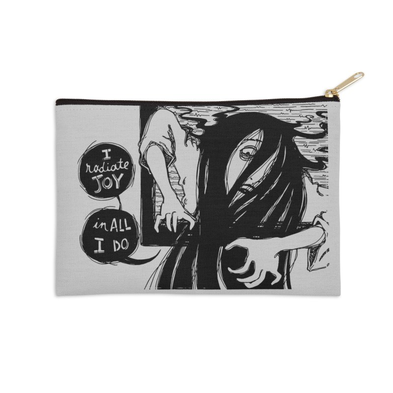 I Radiate Joy in All I Do Accessories Zip Pouch by Sarah Becan