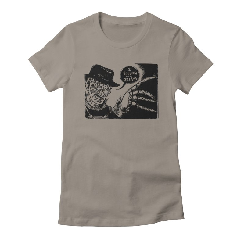 I Follow My Dreams Women's Fitted T-Shirt by Sarah Becan