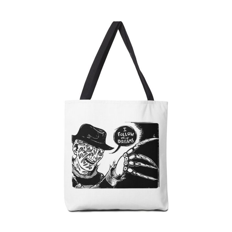 I Follow My Dreams Accessories Bag by Sarah Becan