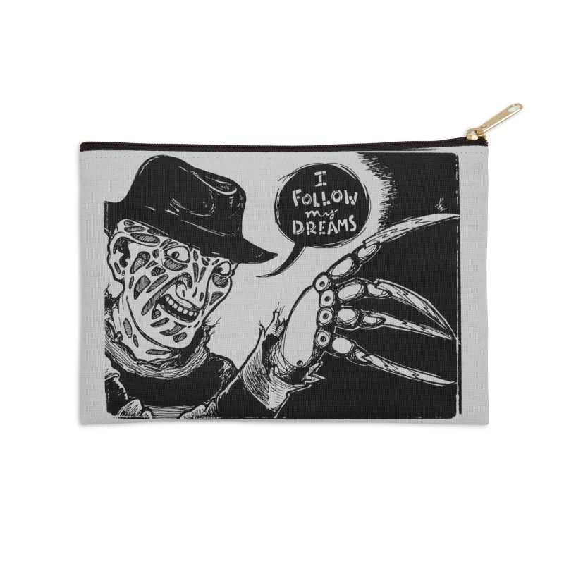 I Follow My Dreams Accessories Zip Pouch by Sarah Becan