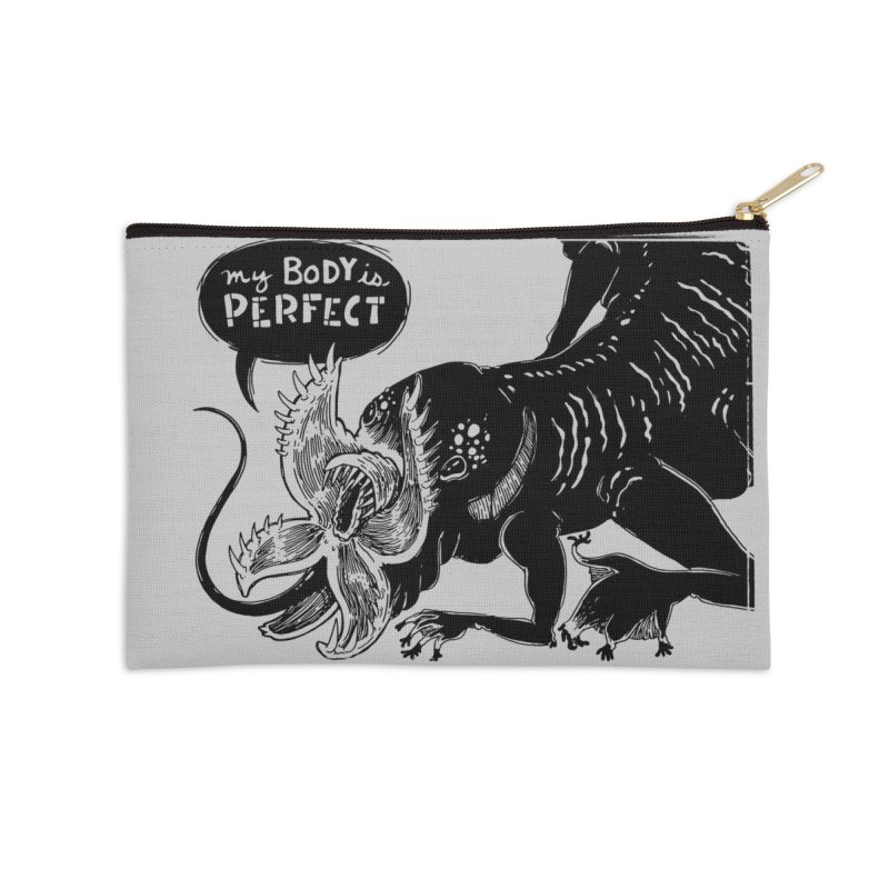 My Body is Perfect Accessories Zip Pouch by Sarah Becan