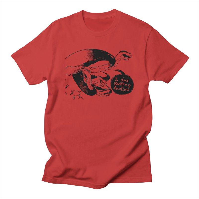 I Don't Bury My Emotions Men's T-Shirt by Sarah Becan