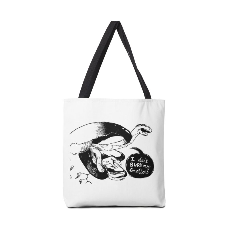 I Don't Bury My Emotions Accessories Bag by Sarah Becan