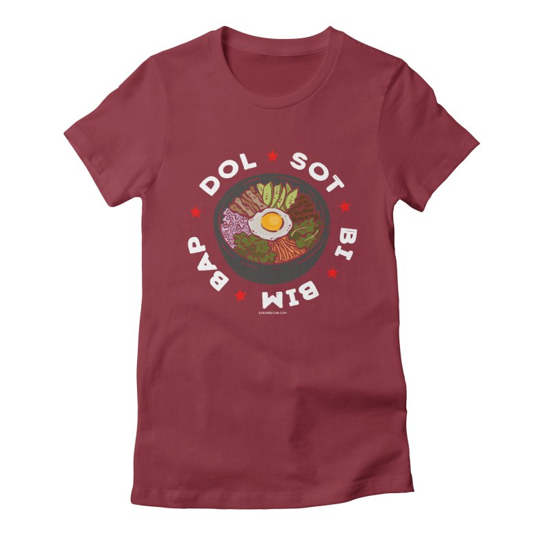 Dol! Sot! Bi! Bim! Bap!  Women's Fitted T-Shirt by Sarah Becan