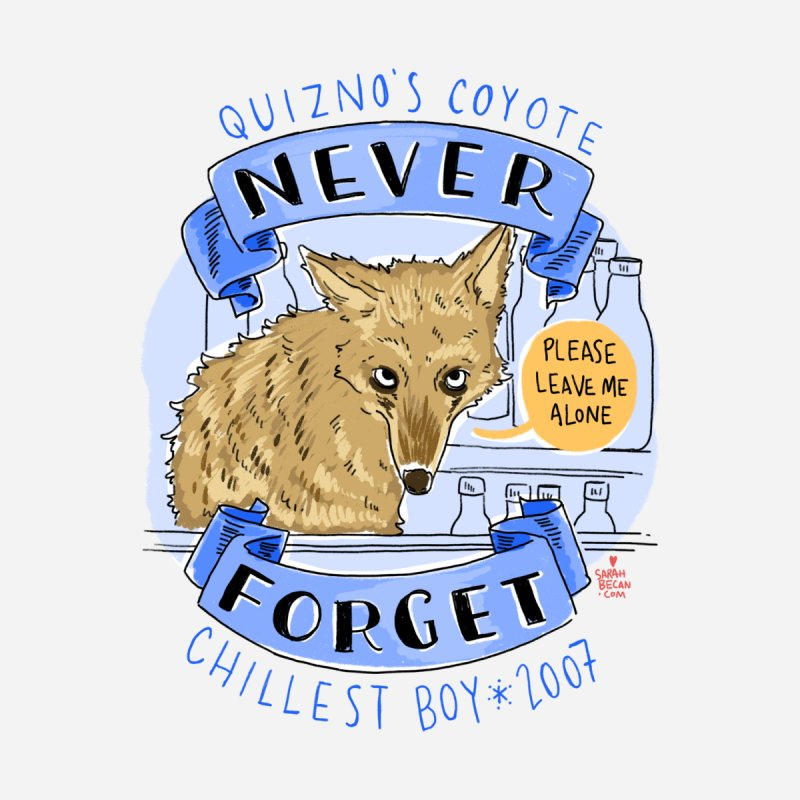 Quizno's Coyote - Never Forget Men's T-Shirt by Sarah Becan