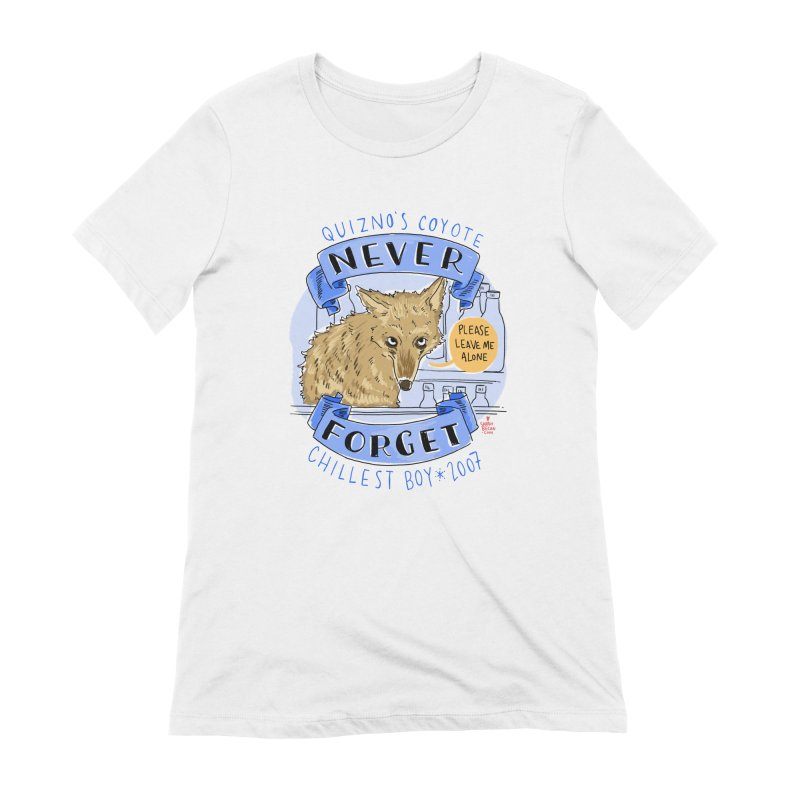 Quizno's Coyote - Never Forget Women's Extra Soft T-Shirt by Sarah Becan