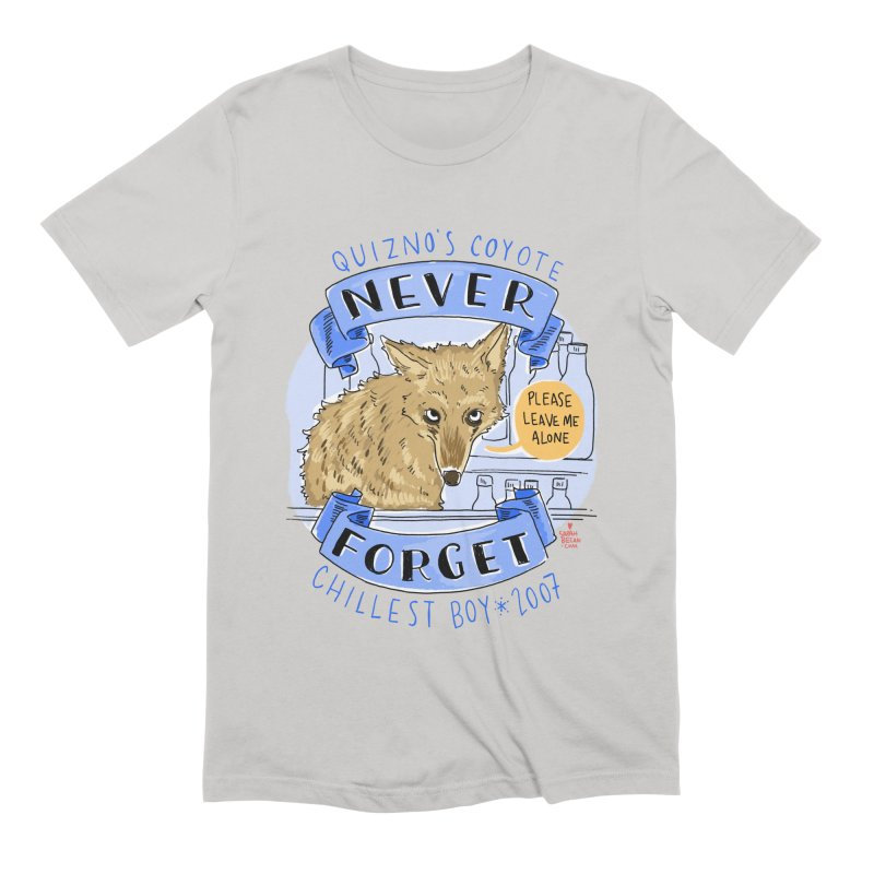 Quizno's Coyote - Never Forget Men's Extra Soft T-Shirt by Sarah Becan