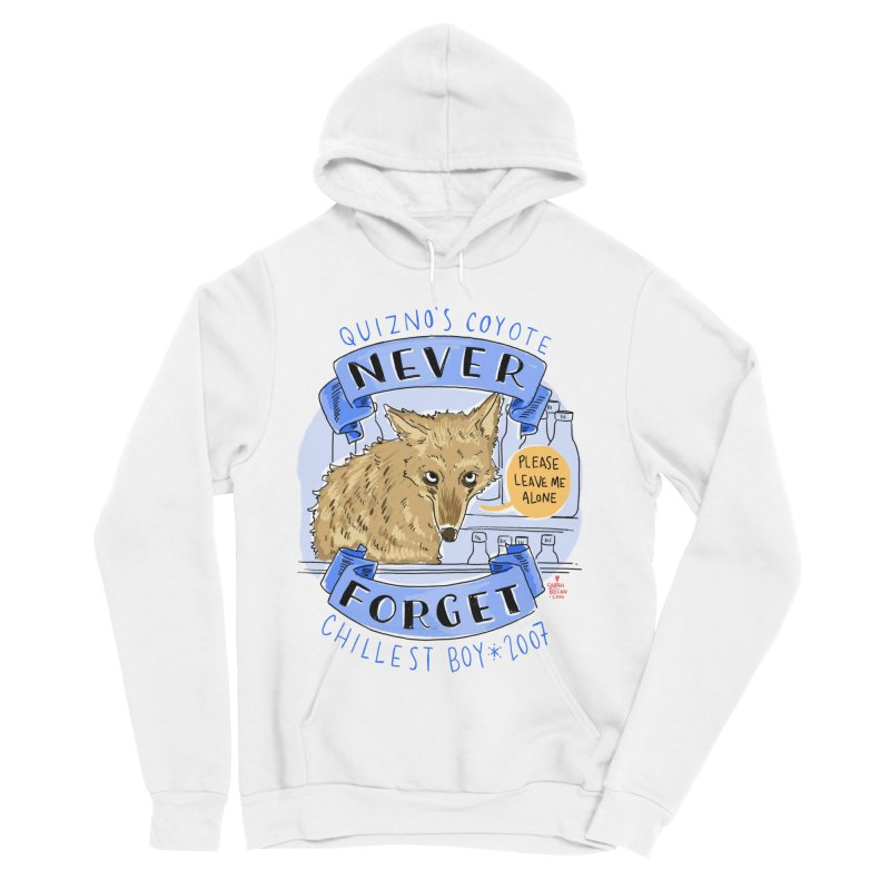 Quizno's Coyote - Never Forget Men's Pullover Hoody by Sarah Becan