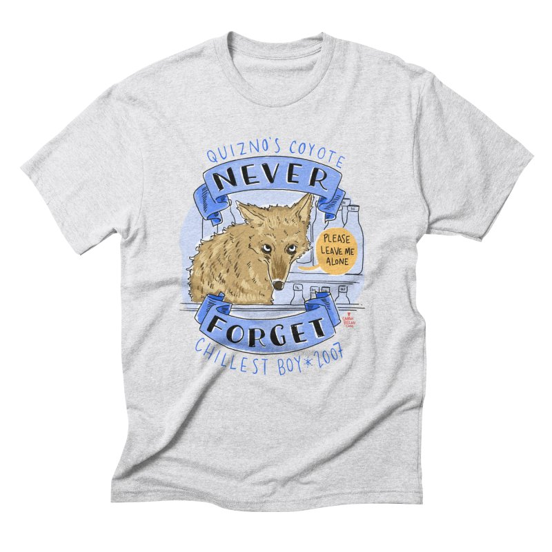 Quizno's Coyote - Never Forget Men's Triblend T-Shirt by Sarah Becan