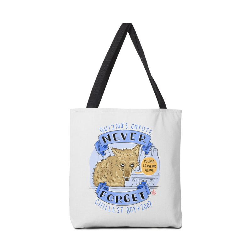 Quizno's Coyote - Never Forget Accessories Tote Bag Bag by Sarah Becan