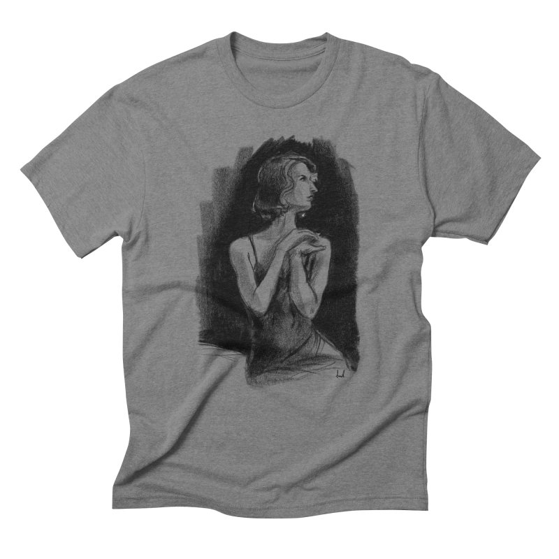 black dahlia noir Men's Triblend T-Shirt by sarahc's Artist Shop
