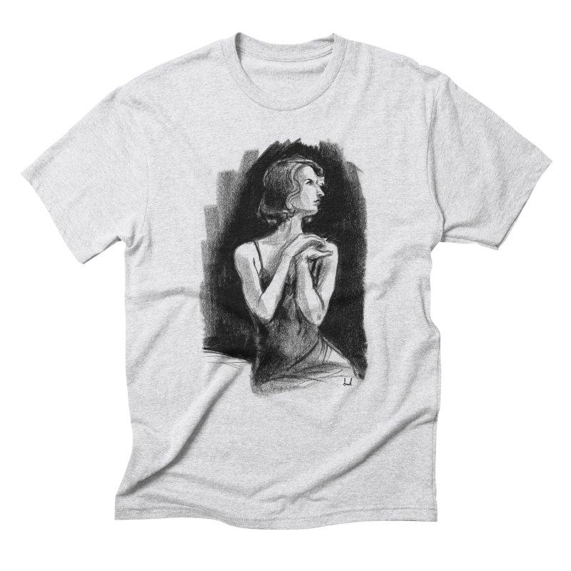 black dahlia noir Men's Triblend T-Shirt by sarahc's Artist Shop