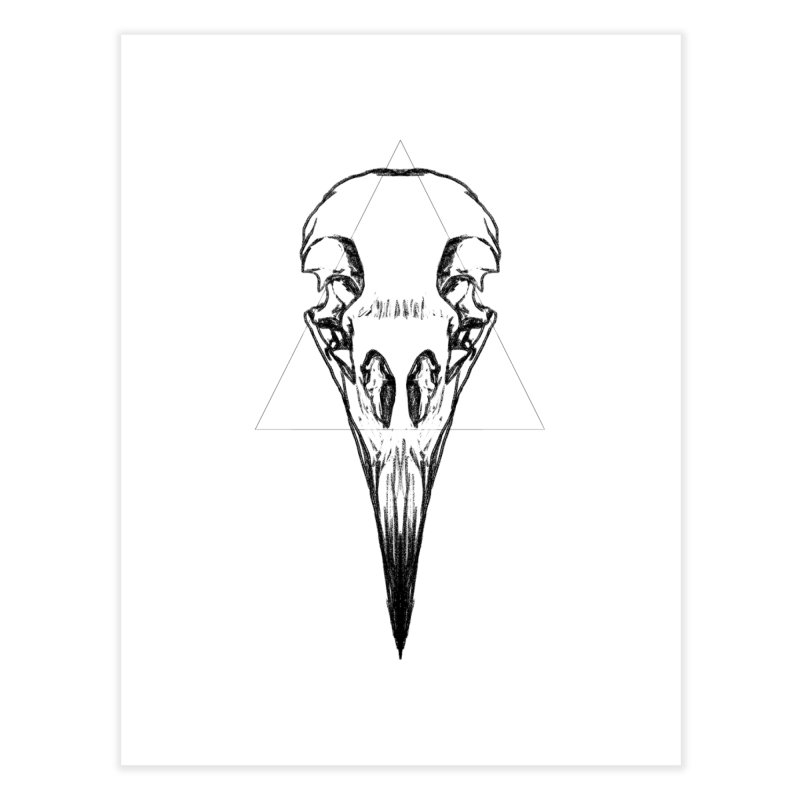 corbeau noir Home Fine Art Print by sarahc's Artist Shop