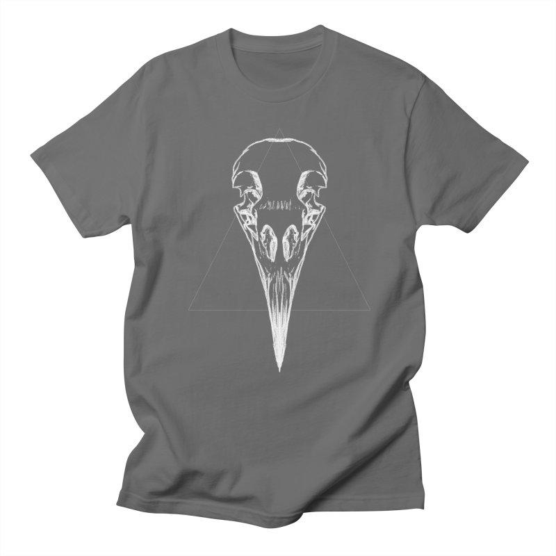 Corbeau blanc Men's T-Shirt by sarahc's Artist Shop