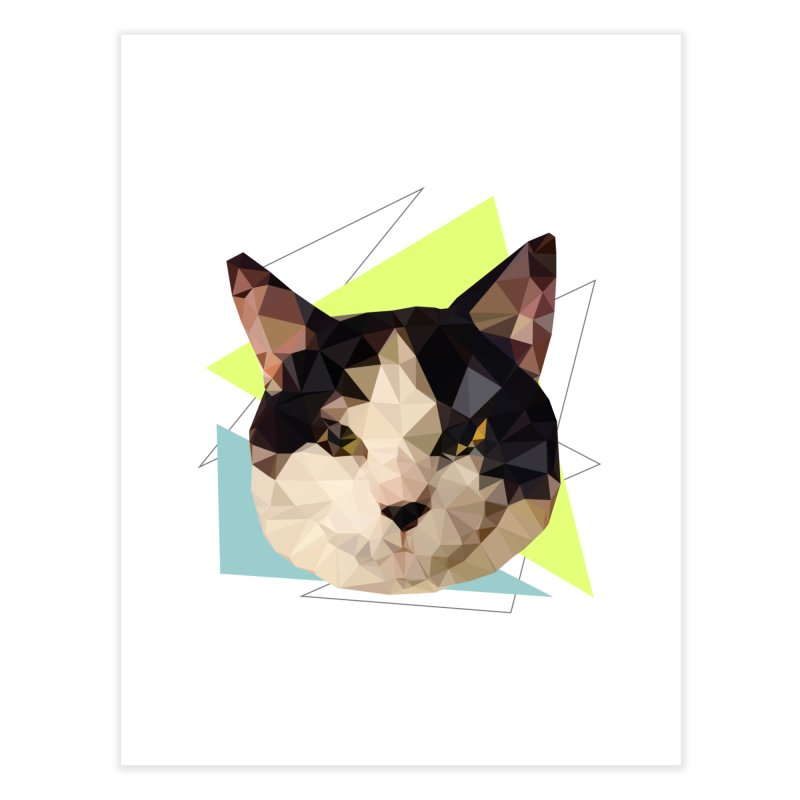 Le chat 01 Home Fine Art Print by sarahc's Artist Shop