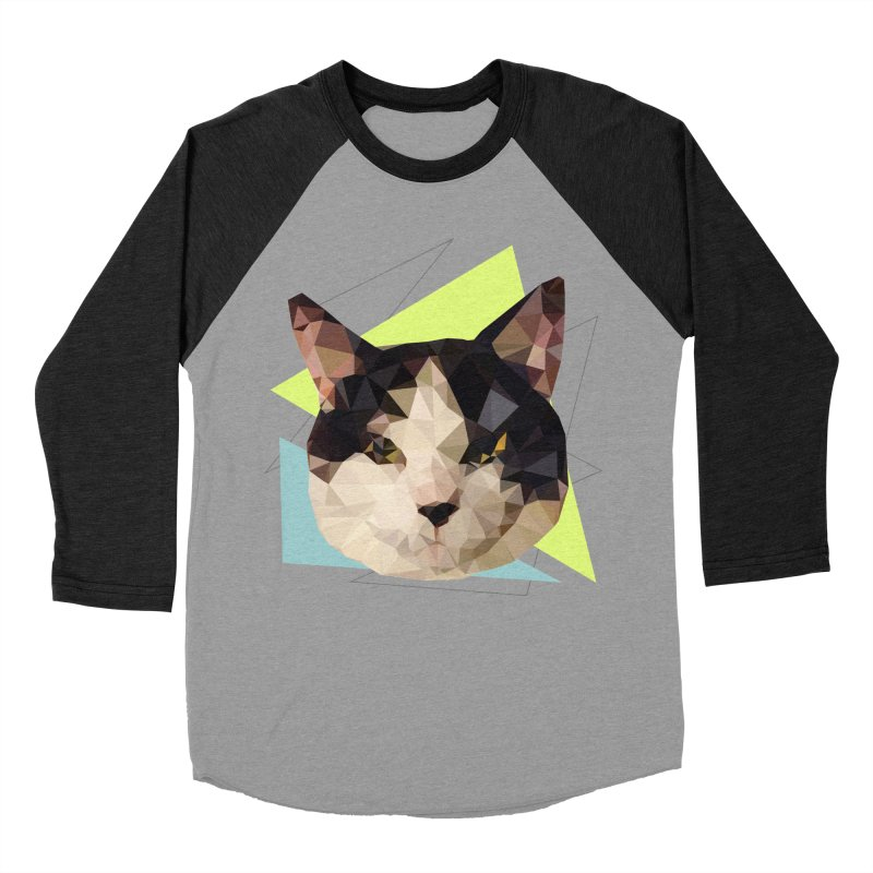 Le chat 01 Men's Baseball Triblend T-Shirt by sarahc's Artist Shop