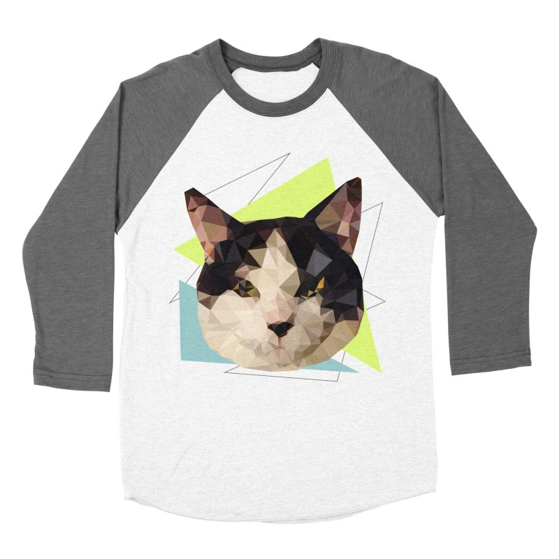Le chat 01 Men's Baseball Triblend T-Shirt by sarahc's Artist Shop