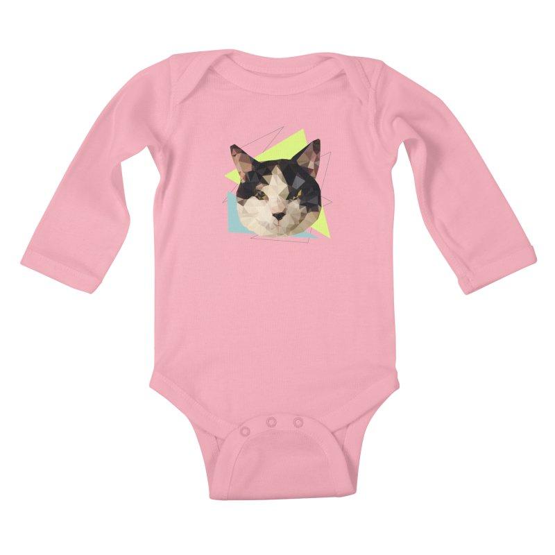 Le chat 01 Kids Baby Longsleeve Bodysuit by sarahc's Artist Shop
