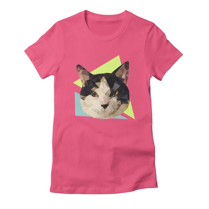 Le chat 01 Women's Fitted T-Shirt by sarahc's Artist Shop
