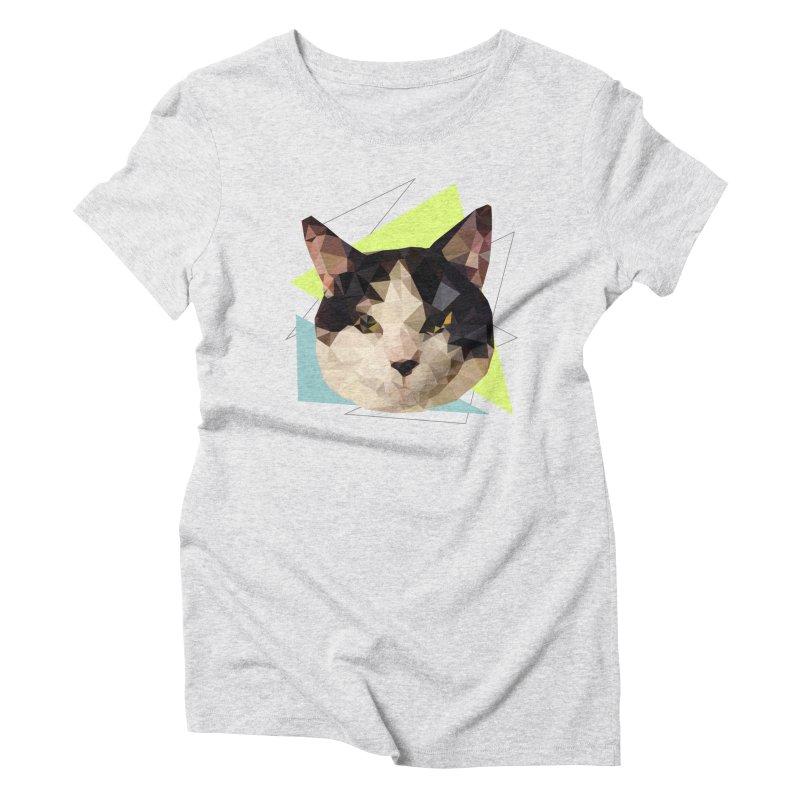 Le chat 01 Women's Triblend T-shirt by sarahc's Artist Shop