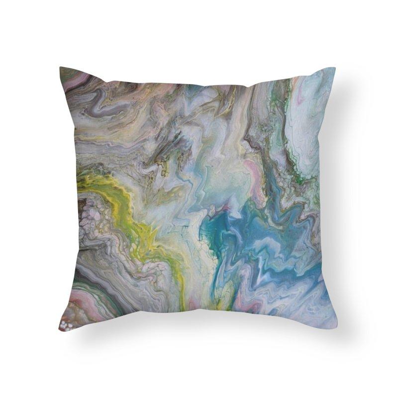 Unicorn Puke Home Throw Pillow by Sarah Lyons . Art