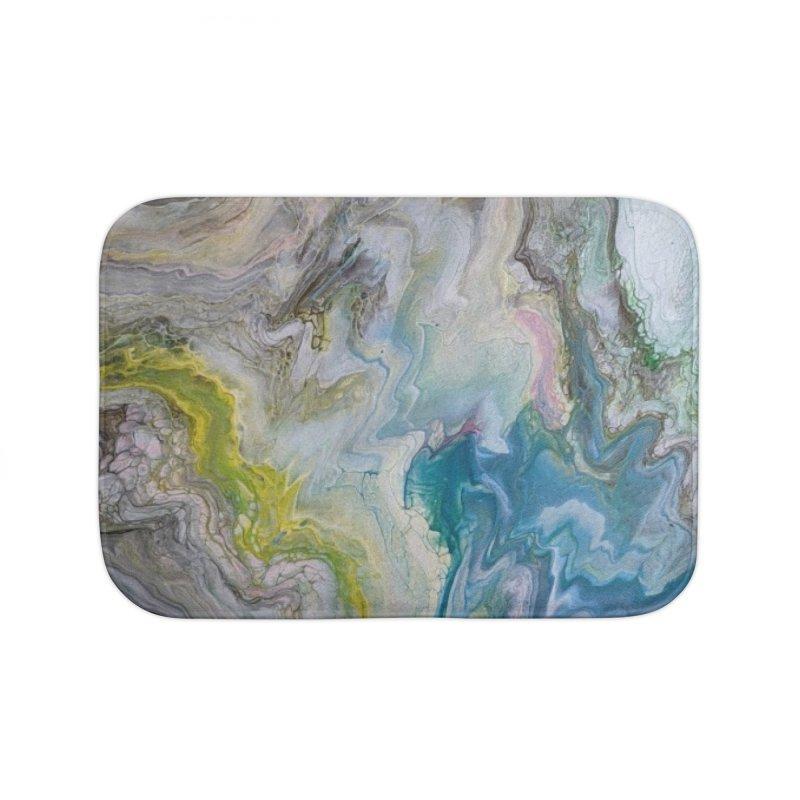 Unicorn Puke Home Bath Mat by Sarah Lyons . Art