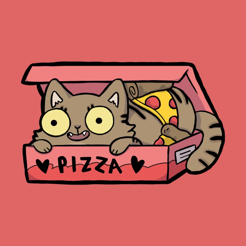Pizza Box Cat by Sarah Graley's Artist Shop