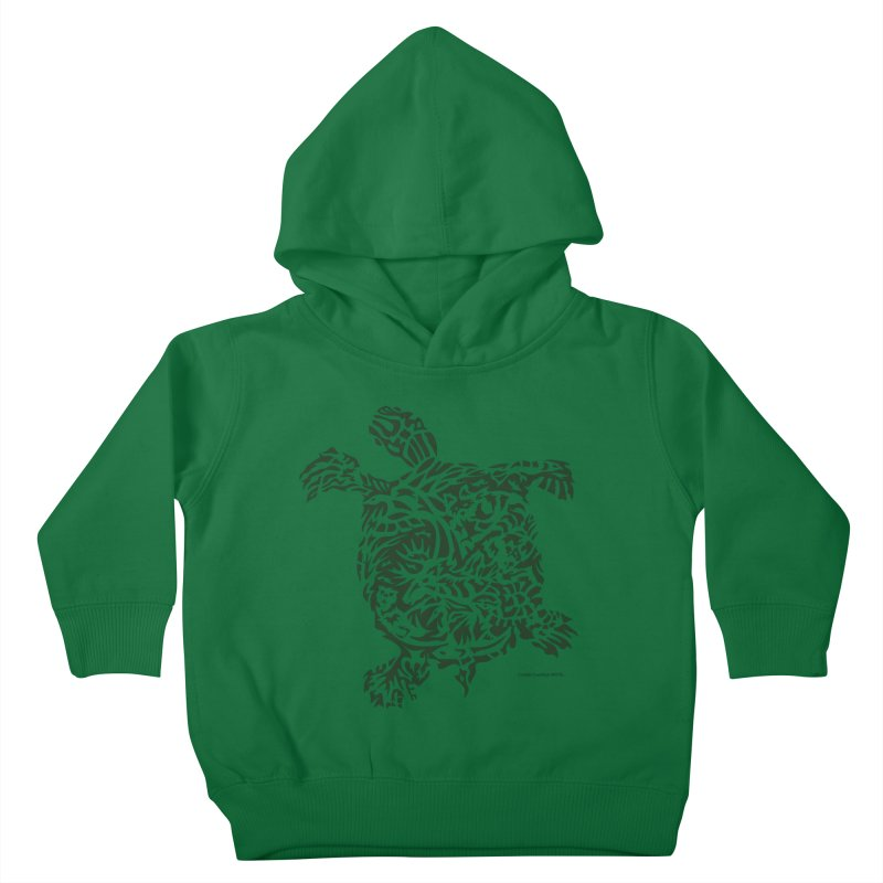 Green Turtle Kids Toddler Pullover Hoody by Sarah K Waite Illustration