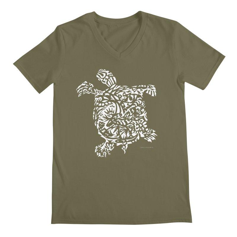 Turtle Men's V-Neck by Sarah K Waite Illustration