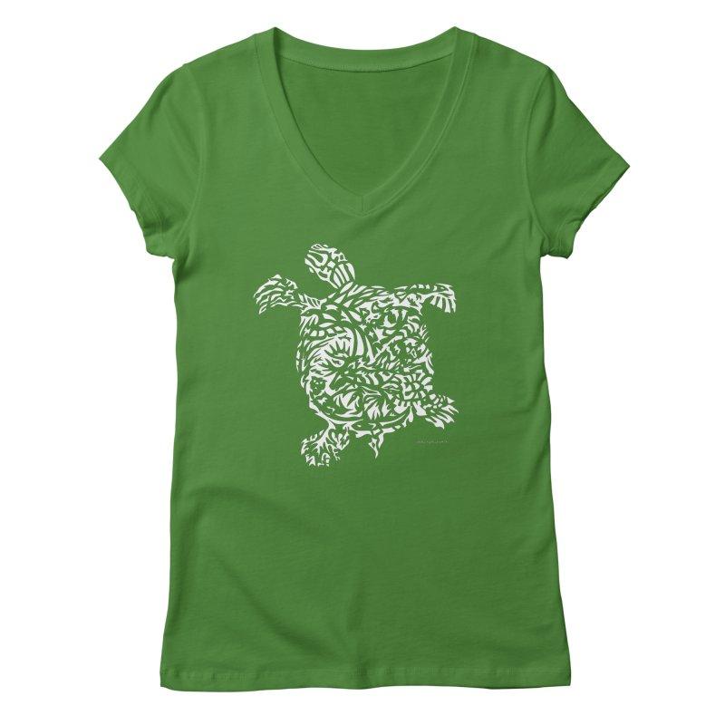 Turtle Women's Regular V-Neck by Sarah K Waite Illustration