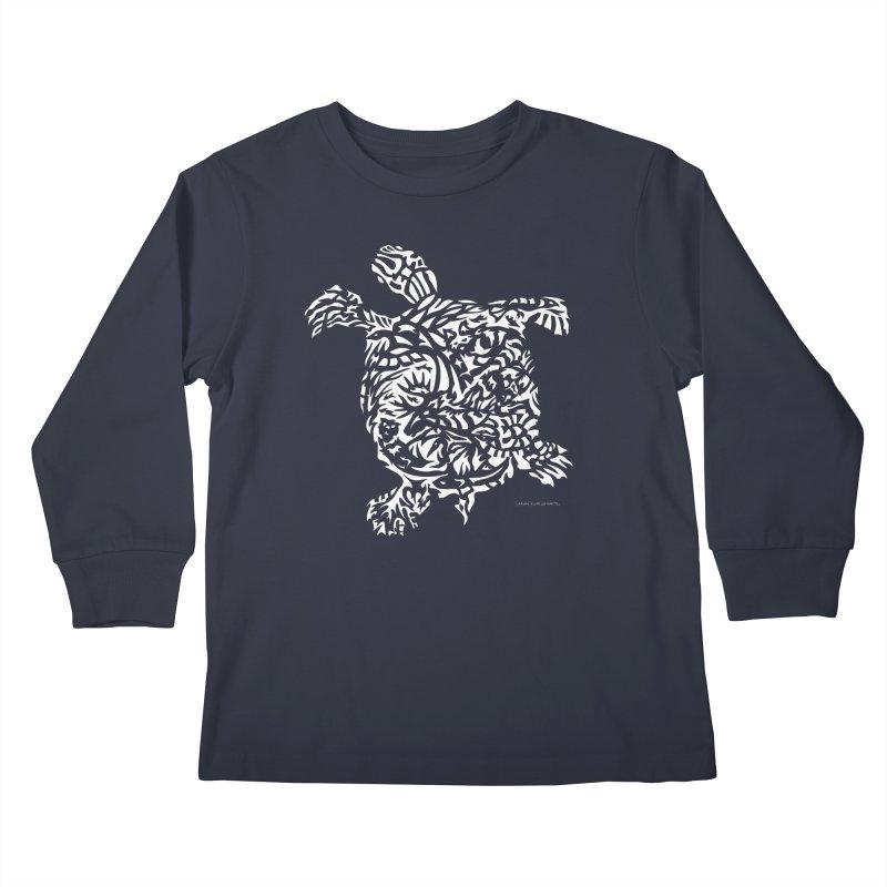 Turtle Kids Longsleeve T-Shirt by Sarah K Waite Illustration