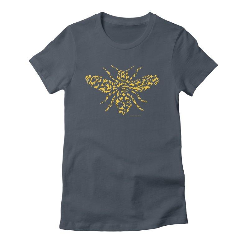Yellow Honey Bee Women's T-Shirt by Sarah K Waite Illustration