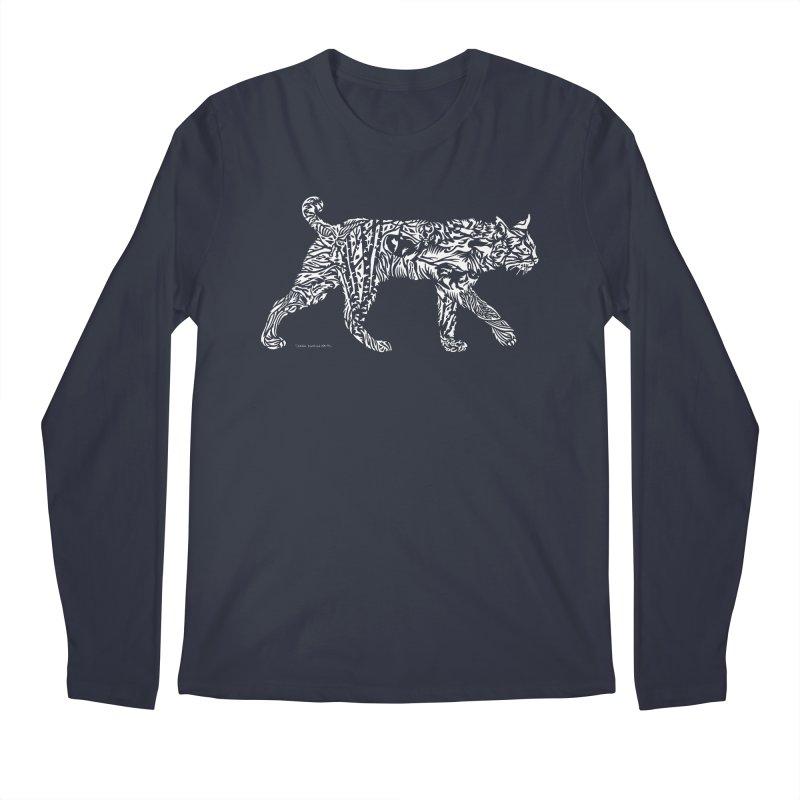 Bobcat Men's Regular Longsleeve T-Shirt by Sarah K Waite Illustration