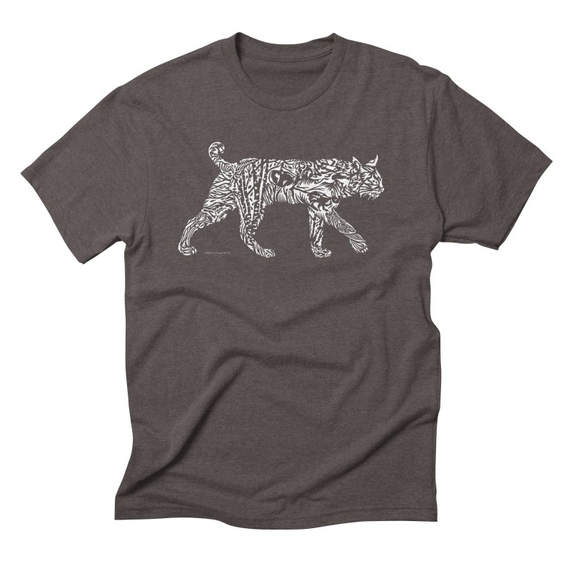 Bobcat Men's Triblend T-Shirt by Sarah K Waite Illustration