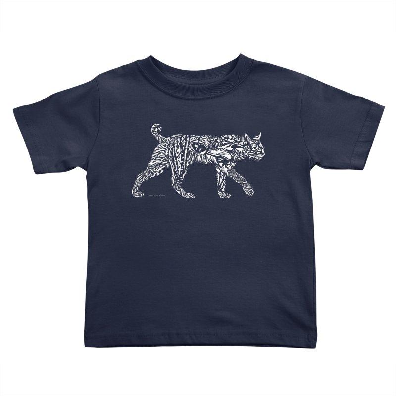 Bobcat Kids Toddler T-Shirt by Sarah K Waite Illustration